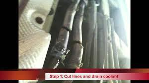 kia sedona rear heater lines rusted