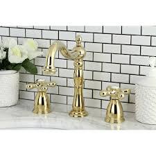 Brass Bathroom Faucet Widespread Lavatory Faucet
