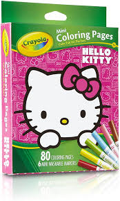 You know all advantages of coloring pages. Amazon Com Crayola Hello Kitty Mini Coloring Pages Markers 86 Piece Set Art Gift For Kids 3 Up Washable Non Toxic Markers Mini Coloring Book Pages Feature Favorite Hello Kitty Characters Great