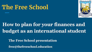 Student Budget Planner International Student Budget Planning