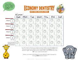 Teeth Brushing Chart Brushing Chart For The Kids Ed Toothtalk