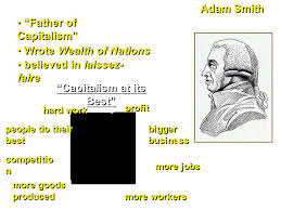 capitalism an economic system based on private ownership of land 2 adam