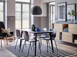 white and black dining room table. The Quick To Assemble LISABO Table And SVENBERTIL Chairs In Black Make An Elegant Combination White Dining Room W