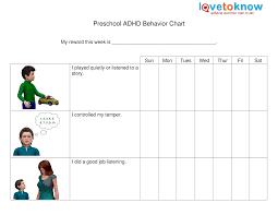 Printable Preschool Adhd Behavior Chart Templates At
