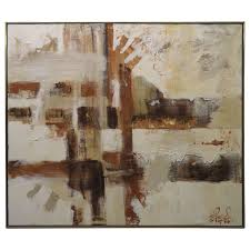 gorgeous large scale lee reynolds abstract painting mid century modern