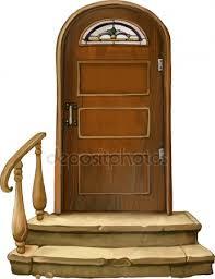 vector ilration of old wooden door stock vector