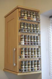 Splendid Wire Shelves for Cabinets with 5 Shelf Spice Rack from Brushed  Nickel on Corner Wall