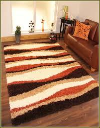 burnt orange brown area rugs
