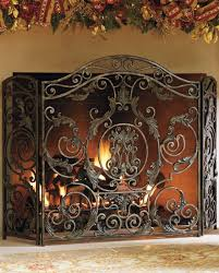whether the fire is lit or not the head turning avignon fireplace screen makes