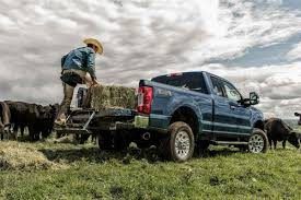 man-using-the-tailgate-step-on-a-2019-Ford-Super-Duty_o - Brandon Ford
