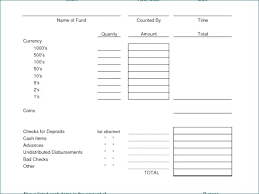 Daily Cash Register Balance Sheet Template Authentic And