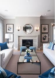 decorate living room with fireplace. Blue Painting Living Rooms Ideas 2018 And Room Furniture With Fireplace Decorate