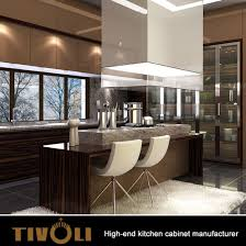 top quality and details kitchen hotel furniture with push open door and quartz counter top tv 0031