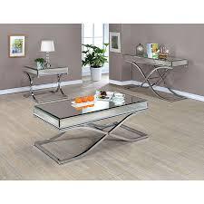 sun chrome coffee table