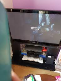 panasonic viera flat screen tv. panasonic viera flat screen tv and glass unit