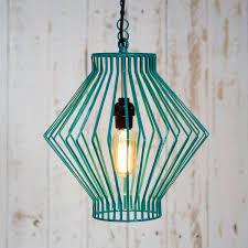 asha metal wire pendant light paper high