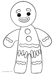 Gingerbread Coloring Pages Printable Gingerbread Coloring Pages