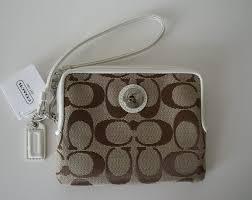 Coach Daisy Signature Small Zip Wallet Wristlet 43812