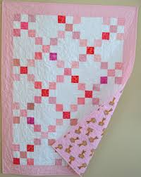 141 best Single Irish Chain Quilts images on Pinterest | Quilting ... & Pink Baby Quilt. Single Irish chain, 9-patch. Such a simple pattern Adamdwight.com