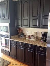 black painted kitchen cabinets ideas. Beautiful Cabinets Cherry Kitchen Cabinets With Gray Wall And Quartz Countertops Ideas Intended Black Painted O