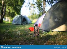The Old Oil Lamp On The Tourist Camp Stock Photo Image Of Camping