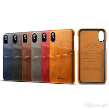 phone cases pu leather case card crazy horse stripes for apple iphone 6s plus ihone 7 8 x case full package cell phone leather cases durable cell phone