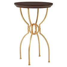 harriet modern classic round gold ebony inlay side table kathy kuo home