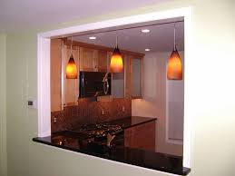 Living Room Pendant Lighting Pendant Lights In A Newly Created Opening Between The Kitchen And