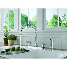 Reviews Of Kitchen Faucets Peerless Two Handle Kitchen Faucet With Side Sprayer Chrome