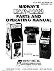 arcade game manual midway s pac man parts and operating midway arcade game manual pac man