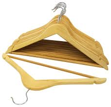wood suit hangers set of 48 natural
