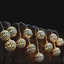 Plain Solar Led String Lights Outdoor Of 12 Moroccan Globe Lanterns Intended Concept Design