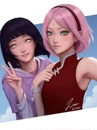 Anime girls Sakura Haruno and Hinata Hyuga: Naruto... (29 Nov 2018)|Random  Anime Arts [rARTs]: Collection of anime pictures