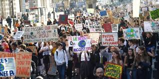Resultado de imagen de fotos de la huelga del medioambiente