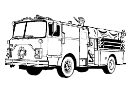 Small Picture Free Printable Fire Truck Coloring Pages Police And Fireman