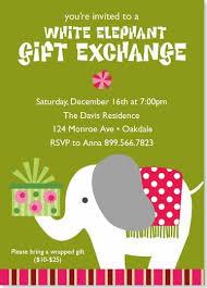white elephant gift invitation. Beautiful Elephant White Elephant Holiday Party Invitation Intended Gift F