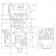 floor plan furniture symbols. Standard Cafe Furniture Symbols On Floor Plans Stock Vector - 69271113 Plan I