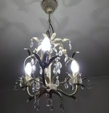 laura ashley ceiling 3 arm chandelier white gold finish with crystal droplets