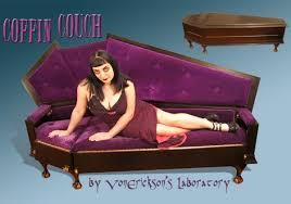 Second Life Marketplace  Boudoir Coffin Sofa BlackPurpleCoffin Couch