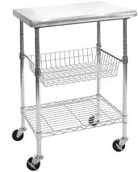 details about seville classics kitchen cart stainless steel shelf basket height adjustable