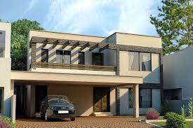 Small Picture 3D Front Elevationcom DHA Lahore 1 Kanal Modern Contemporary