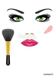 sle makeup for green eyes and a brush for blush