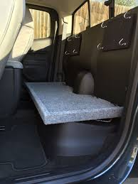 picture of chevy colorado gmc canyon extended cab rear seat removal and cargo storage
