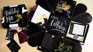 amazing birthday exploding box idea for boyfriend easy birthday exploding box easy handmade card