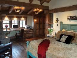 Master Bedroom With Natural Wooden Desk