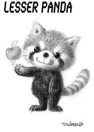 動物イラストレッサーパンダ氏 猫とイラストと鉛筆な日々