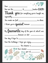 Dear Teacher Letter Be A Fun Mum Teacher Gifts Pinterest