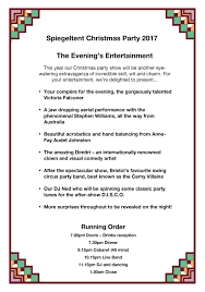 Microsoft Christmas Party Microsoft Word Spiegeltent Christmas Party 2017 Line Up Big Bo