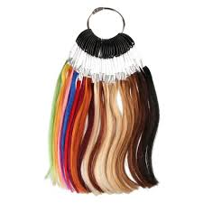 Details About 29 Color Sythethic Color Rings Color Chart Color Swatch For Human Hair Extension