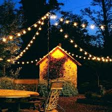 lighting outdoor solar 10 bulb string lights in clear